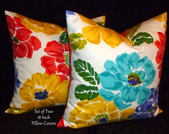 Decorative Pillows, Accent Pillows,Throw Pillows, Pillow Covers, Home Decor - Set of Two 18 Inch