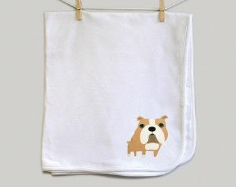 Baby blanket, Bulldog baby blanket, Bulldog receiving blanket
