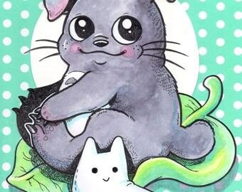 My Baby Neighbor Totoro (print)