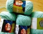 SWTC Vickie Howell CRAFT Yarn Cotton and Milk Fiber in Sea GREEN
