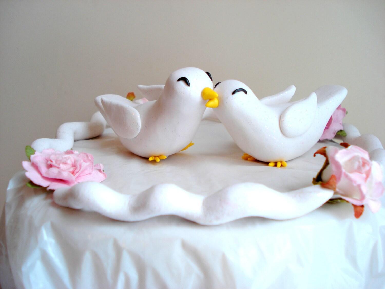 Dove Wedding Cake Topper Romantic Keepsake by MagicalGifties