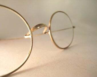 Vintage Gold Wire Framed Glasses - 12K Gold