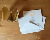 Where the Wild Things Are THANK YOU CARDS (quantity 12 cards and envelopes)