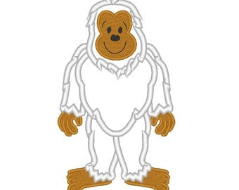 Yeti ;) - machine embroidery applique and filled designs, file - 4x4, 5x7 and 6x10 INSTANT DOWNLOAD