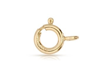 Gold 8mm Spring ring 14Kt Gold Filled 8mm Spring Ring With Fixed Closed Ring - 5pcs Wholesale Prices (2666)/1