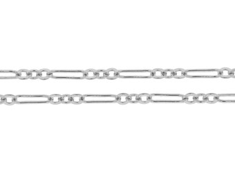 Sterling Silver 7x2mm Flat Long and Short Chain - 20ft (2375-20)/1