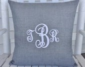 Personalized Indoor Outdoor Pillow Cover in Graphite Grey