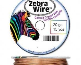 New Zebra color-coated copper wire NATURAL 20 ga 15 yd