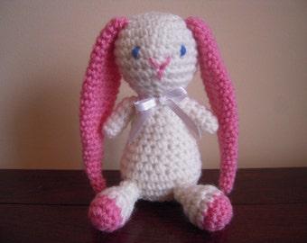 Crocheted Stuffed Amigurumi Bunny Rabbit with Long Ears