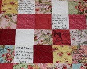 Wedding Guest Book Signature Quilt - LAP / Throw Size 56 x 74 - Custom Made to Order - Match Your Wedding Colors ~ 221 Signature Squares