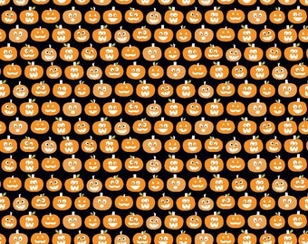 SALE Riley Blake Halloween Magic By Bella Blvd Glow In The Dark Pumpkins 1 Yard