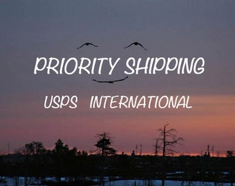 USPS Priority Mail International Shipping - Small Flat Rate Box - Expected Delivery is  6-10 Business Days