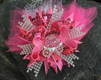Cinderella Princess Rhinestone Bling Boutique Hairbow