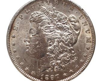 1897 U.S. Morgan Silver Dollar