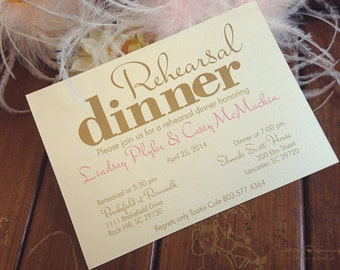 Rehearsal Dinner Invitations, Lot of 25