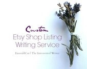 One Shop Listing - Custom Writing Service / Editing Service for Etsy Sellers, Personalized Descriptive SEO Tag Words, Title Suggestions