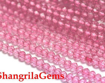 3mm 13.5in pink Mystic Quartz faceted roundelles MYQ03 SALE FROM 22 pounds
