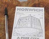 Norwich Castle 'A Fine City' postcard