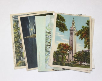 9 Vintage Springfield Massachusetts Postcards Blank - Wedding Guestbook
