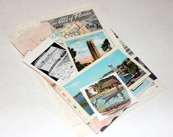 Florida - United States Vintage Travel Collage Kit