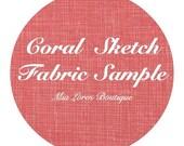 Coral Sketch Fabric Sample