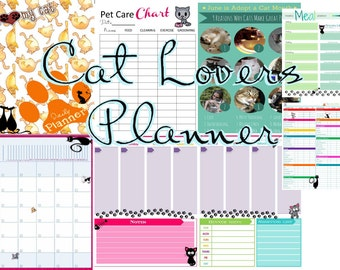 Cat Lovers Daily Planner Printable Calendar
