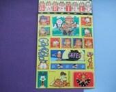 Rare 1978 Garfield Sticker Sheet. 17 Individual Stickers. Garfield and Odie.