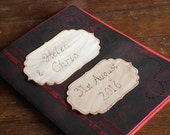 Black & red personalised guestbook, handmade personalized gothic wedding guest book, Diary, Notebook, Scrapbook, pyrography