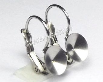 Stainless steel french clip with ss39 (8mm) 1122 rivoli cup - SMALL CLIP