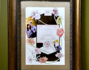wedding collage | etsy, Einladungen