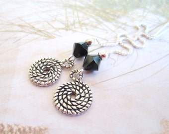 Sterling Silver Ear Threads-Spiral-Coil