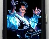 Elvis Presley  Black Metal Wallet Cigarette Case  No. 735