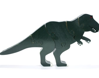 Green Tyrannosaurus Rex Decor and Puzzle