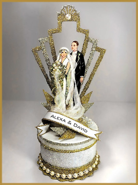 1920 39 s art deco great gatsby wedding cake. Black Bedroom Furniture Sets. Home Design Ideas