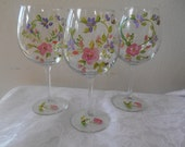 Hand painted personalized glasses, Reserved for customer.