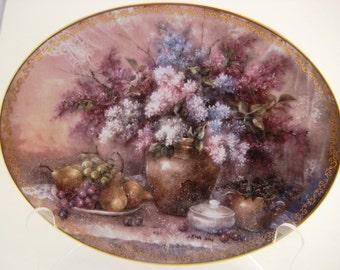 Bradford Exchange Lena Liu Garden Elegance Collector Plate