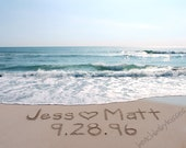 CUSTOM ANNIVERSARY Sand Writing - personalized beach message written in real sand - FREE Shipping!