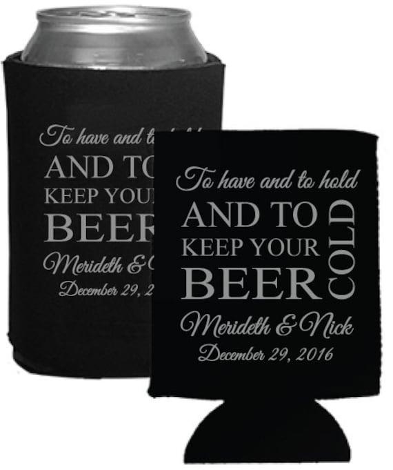 Custom Wedding Koozies: Personalized Wedding Favors Beer Koozies Coolies By Factory21