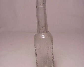 c1890s Florida Water Lazell Dalley & Co. New York, N.Y. , Cork Top Clear Blown Glass Florida Water Perfume Bottle No. 1