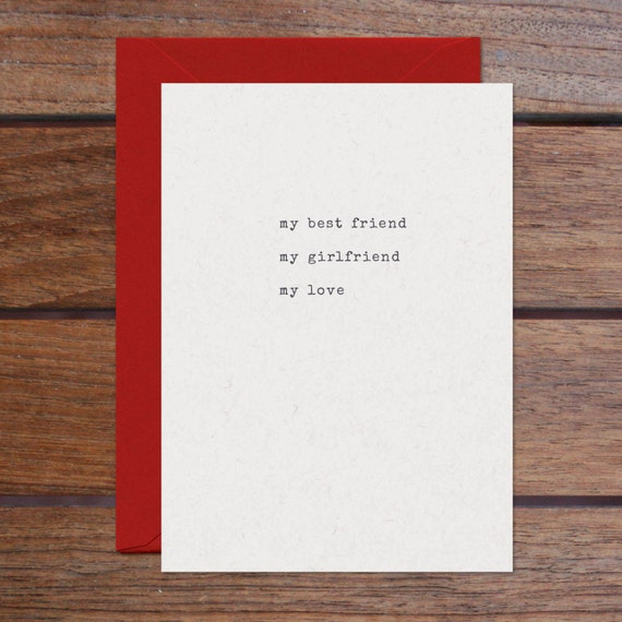 Best Friend Girlfriend Love (Letterpress)