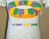 Caution Baby Inside Maternity Shirt