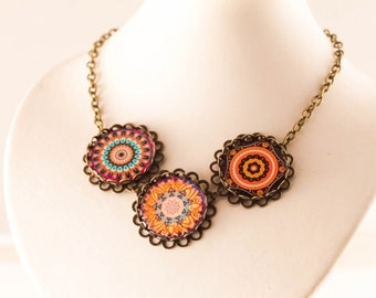 Mandala Necklace - Arabic Necklace - Arabic Jewelry, Bohemian Necklace - Boho Necklace, Gift For Her - Mandala, BOHEMIAN NECKLACE , Moroccan