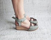 SINDRI - Water Green - FREE SHIPPING Handmade Leather Shoes with Summer Sale Price