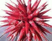Christmas Ornament Polish Star - Red Kraft Paper