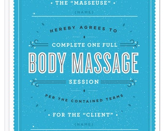 Massage Contract Card