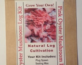 Pink Oyster Mushroom Growing Log Kit Gorws For Years!!  ON SALE Limited Time