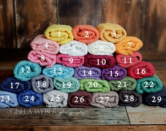 RTS, PICK 31, High Quality, Rainbow Baby Wraps, Baby Cheesecloth Wraps, Newborn Layering, Baby Prop, Baby Wrap Set