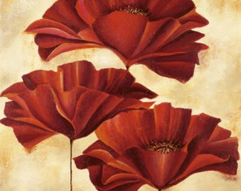Three Poppies II - Cross stitch pattern pdf format