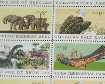 USA Mint Stamp Sheet, 1387 - 1390, Natural History Issue, VF, NH, 1970