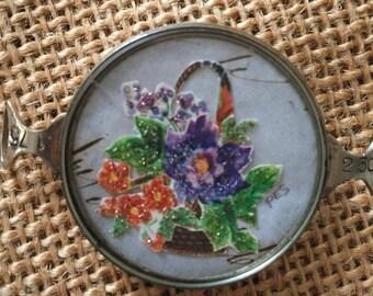 Vintage Handcrafted ROSE floral Bracelet Piece